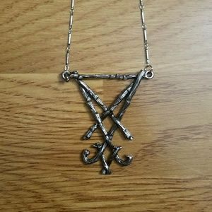 Restyle Lucifer Sigil necklace gothic necklace